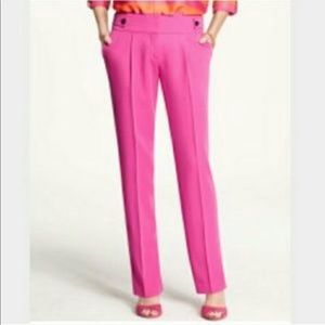 Ann Taylor hot pink pleated pants